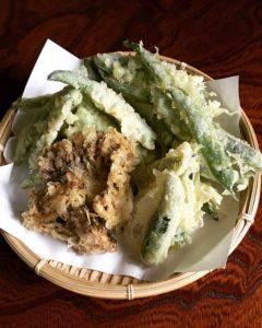 山の幸の天ぷら|八王子こじまファーム